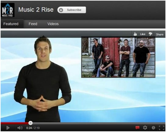 Music2Rise video