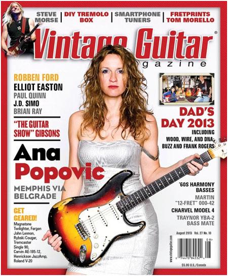 Ana  Popovic 2013 Vintage Guitar